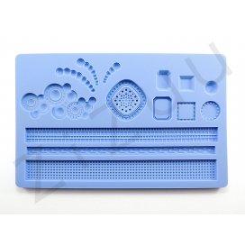 """Stampo molding in silicone 14 decori """"Gioielli e Pietre"""" per cake design"""