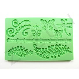 """Stampo molding in silicone 10 decori """"Natura"""" per cake design"""
