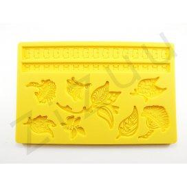 """Stampo molding in silicone 10 decori """"Eleganza di Fiori"""" per cake design"""