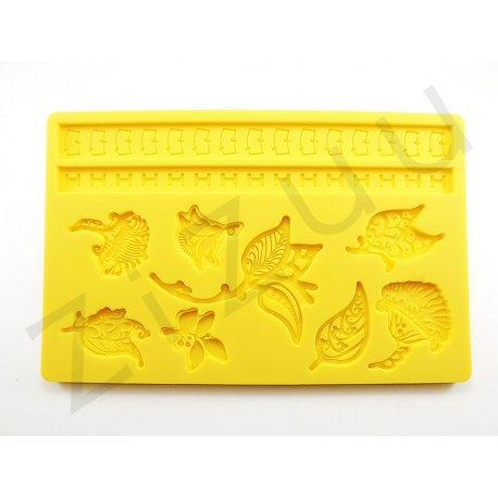 Stampo 10 decori fiori per dolci in silicone