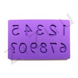 """Stampo molding in silicone """"Numeri"""" per cake design"""