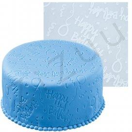 """Tappetino silicone decorato """"Happy Birthday"""""""