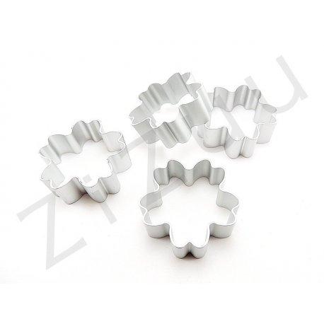 Stampo cutter in alluminio per biscotti a forma di primula