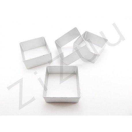 Stampo cutter in alluminio per biscotti a forma di quadrato