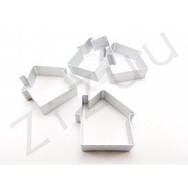 Stampo cutter coppapasta a forma di Casetta, in alluminio
