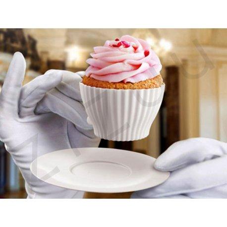 Set 4 tazzine per cupcake in silicone
