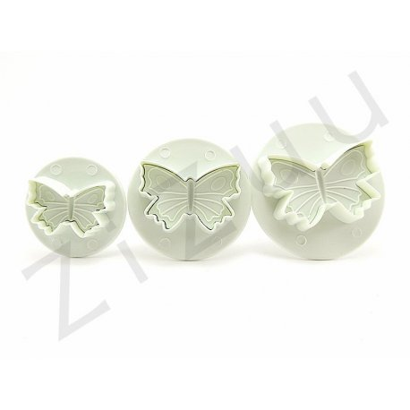 Set cutter a espulsione a forma di farfalla