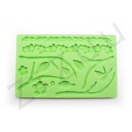"""Stampo molding in silicone 14 decori """"Natura"""" per cake design"""