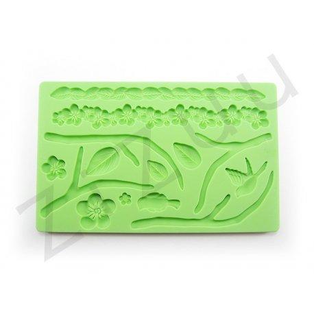 Stampo 14 decori natura per dolci in silicone