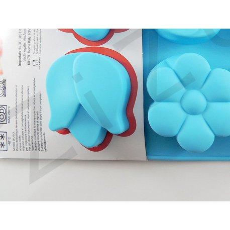 Stampo a fiori 6 posti in silicone