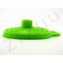 Imbuto pieghevole in silicone verde