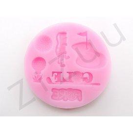 """Stampo molding in silicone """"Attrezzi da Golf"""" per cake design"""