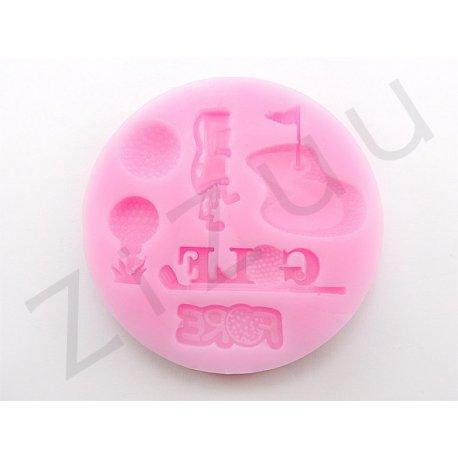 """Stampo molding in silicone """"Attrezzi da Golf"""" per decorazione dolci"""