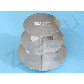 Cupcakes stand: Alzata per cupcake a 3 piani, in cartone metallizzato