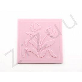 """Timbro: stampo a rilievo in silicone """"Tulipani"""" per cake design"""