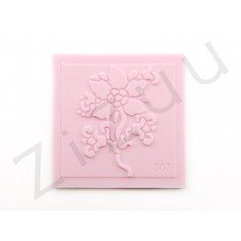 """Timbro: stampo a rilievo in silicone """"Fiore 5 petali"""" per cake design"""