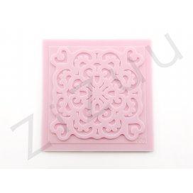 """Timbro: stampo a rilievo in silicone """"Mandàla"""" per cake design"""