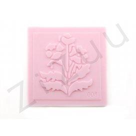 """Timbro: stampo a rilievo in silicone """"Fiore di campo"""" per cake design"""