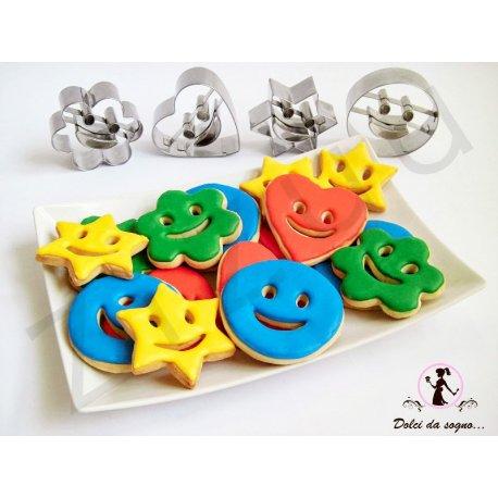 Set stampi 4 forme con sorriso