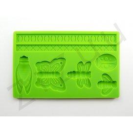 """Stampo molding in silicone 7 decori """"Insetti Volanti"""" per cake design"""