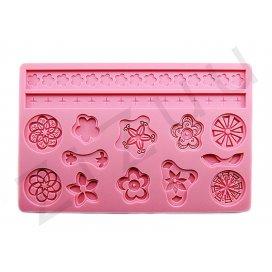 """Stampo molding in silicone 14 decori """"Fiori Stilizzati"""" per cake design"""