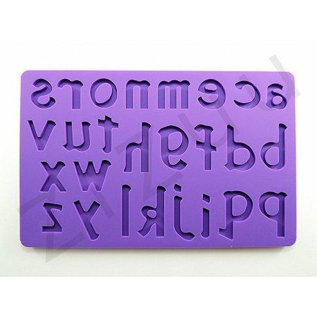 """Stampo molding in silicone """"Lettere minuscole"""" per cake design"""