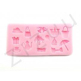 """Stampo molding in silicone """"Accessori Vari Retrò"""" per cake design"""