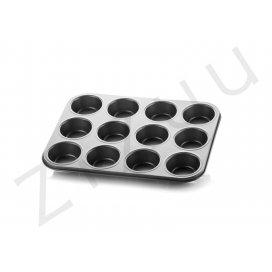 Teglia per muffin e cupcakes, in alluminio antiaderente (12 posti)