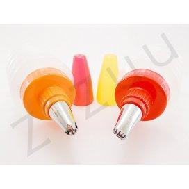 Contenitori dispenser a pompetta con beccucci INOX per decorazione dolci