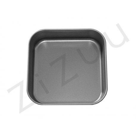 Teglia quadrata liscia bassa da 20cm in alluminio antiaderente - qualità professionale Pro-Q