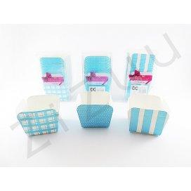Pirottini quadrati azzurri per muffin e cupcake