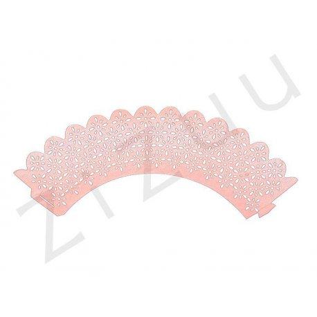 Copri-pirottini con decorazione a fiori in carta perlata (6pz)
