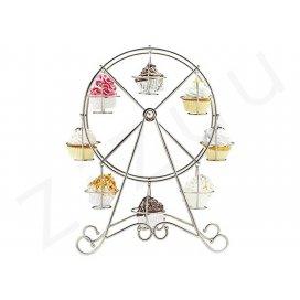 Ruota panoramica porta muffin e cupcake, da 8 posti, in metallo