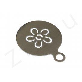 Stencil: Mascherina a fiore per decorazione cappuccino, INOX