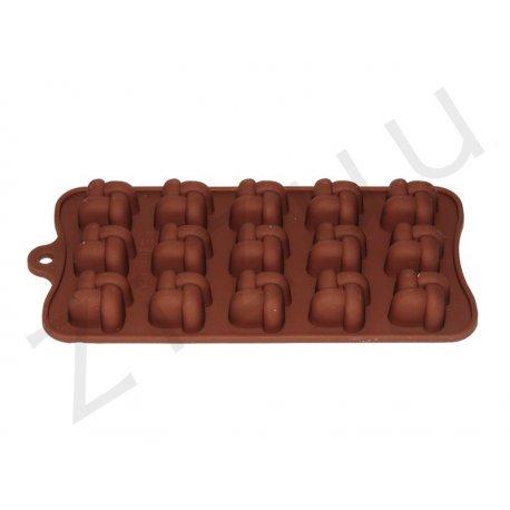 Stampo per cioccolatini in silicone a forma nodo