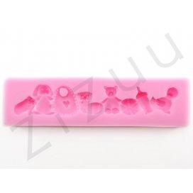 """Stampo molding in silicone """"Accessori per bambini"""", per cake design"""
