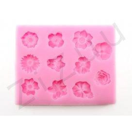 """Stampo molding in silicone """"Fiori 3D"""", per cake design"""