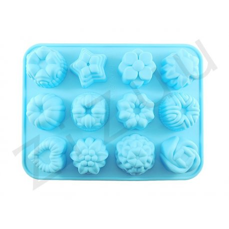 Stampo 12 posti in silicone con 12 figure