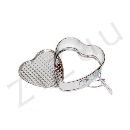Tortiera apribile: stampo a cerniera a cuore (10cm) - Pro-Q
