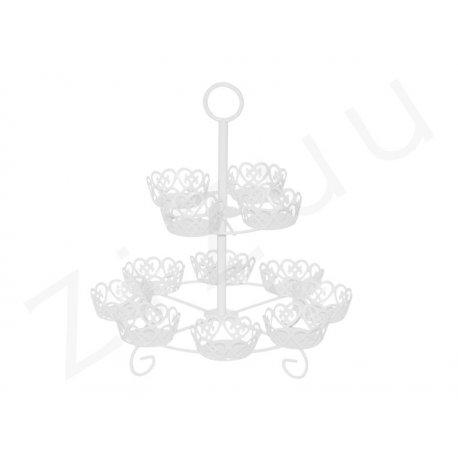 Cupcakes stand: alzata per cupcake in metallo, 12 posti