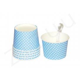 Coppette per gelato a pois, con cucchiaini (6 pz)