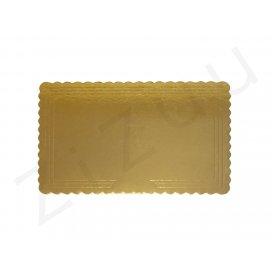 Sottotorta rettangolare in cartone color oro