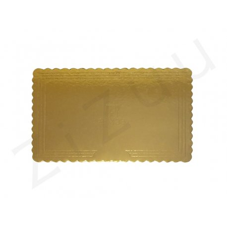 Sottotorta rettangolare in cartone rigido color oro