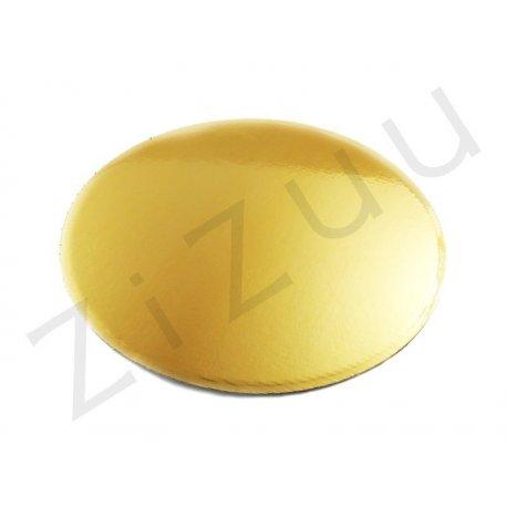 Sottotorta tondo in cartone color oro