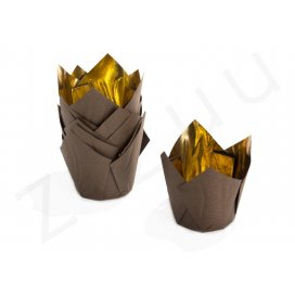 Pirottini a tulipano, interno oro