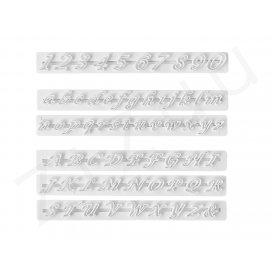Marcatori tagliapasta lettere e numeri