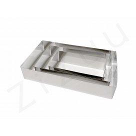 Stampi rettangolari senza fondo per torte, INOX