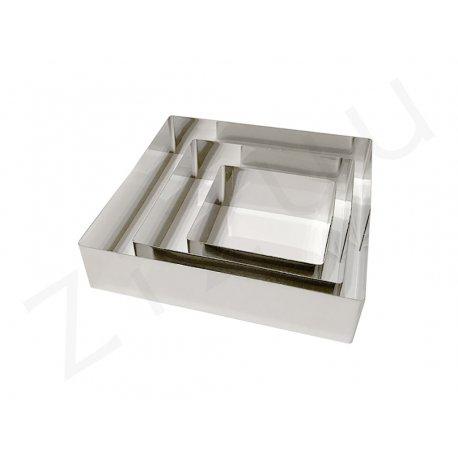 Stampi quadrati senza fondo per torte, INOX