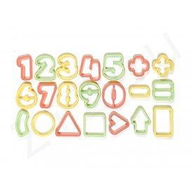Stampi tagliapasta a numeri e forme