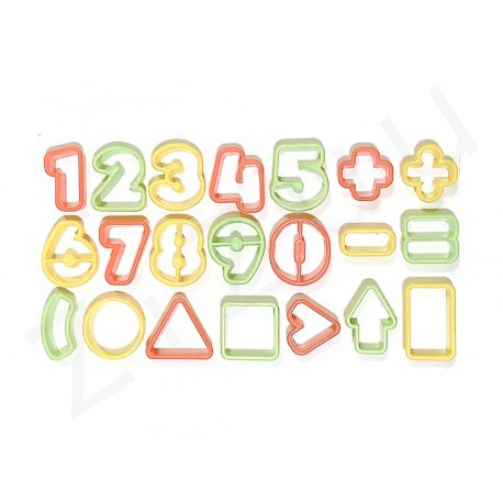 Stampi tagliapasta numeri e forme